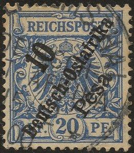 GERMAN EAST AFRICA SG12 Mi 9 1896 10p ON 20pf Blue USED
