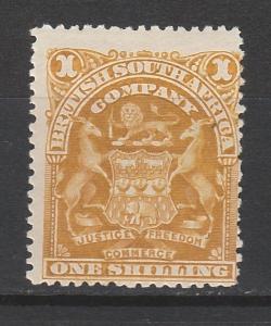 RHODESIA 1898 ARMS 1/-