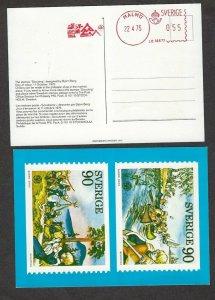 1975 Sweden Boy Scout meter Nordjamb postcard