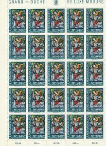 B287-B291 LuxembourgSemi-Postal Mint OGNH sheets of 25