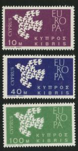 Cyprus Scott 201-3 Europa 1961 MH* set
