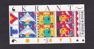 Netherlands  #B674-B676a  MNH 1993  sheet  children and the media