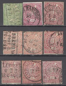 COLLECTION LOT OF #1096 NORTH GERMAN CONFEDERATION  9 ST 1868+ CLEARANCE  CV+$20