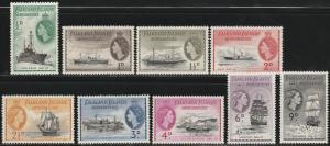 Falkland Islands Dep., #1L19-1L27  MH From 1954