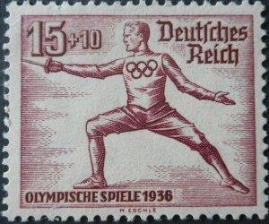 Germany 1936 Olympics 15 Pfennig Michel 614 u/mint