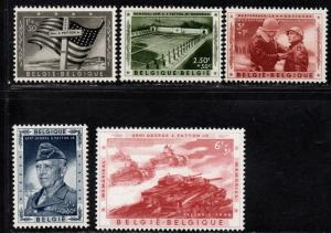 $Belgium Sc#B606-B610 M/NH/VF, complete set, Patton, Cv. $29.50