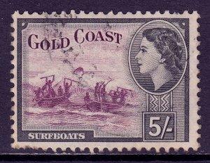 Gold Coast - Scott #158 - Used - Pulled perfs, crease - SCV $6.00