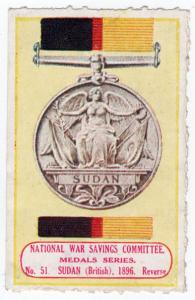 (I.B-CK) Cinderella : National War Savings (Medals Series 51) Sudan