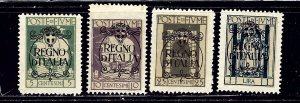 Fiume 184/185/188/192 No Gum 1924 issues    (ap2281)