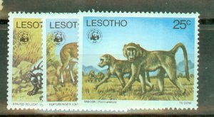 P: Lesotho 228-32 MNH CV $56.50; scan shows only a few