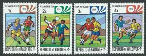 Maldive Islands Scott 516-519  MNH  Soccer