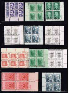 US STAMP MNH BLK OF 4 STAMP COLLECTION LOT #F1