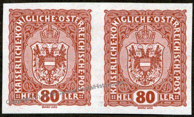 Austria Michel 197U Imperf Pair MH Proof Vorzugstuecke 66789