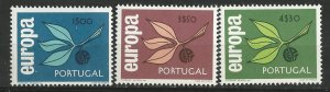 Portugal # 958-60    Europa - 1965  (3) Mint NH