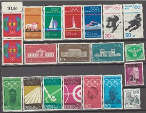 COLLECTION LOT # 3109 GERMANY 20 MOSTLY MNH STAMPS 1944+ CV+$16