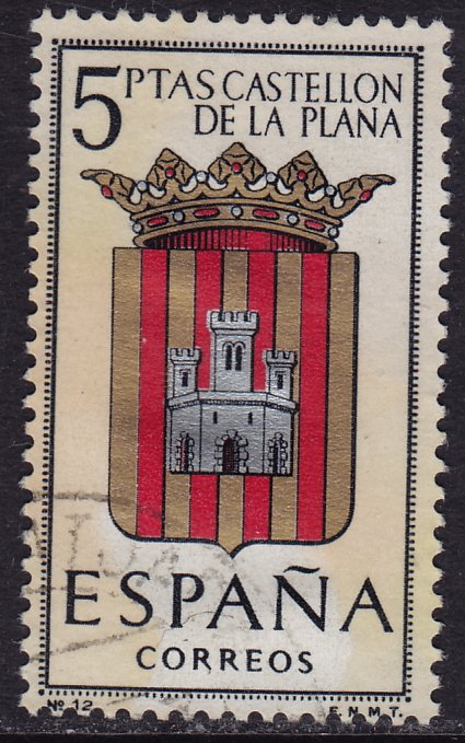 Spain - 1962 - Scott #1056 - used - Arms Castellon de la Plana