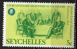 Seychelles: 1976 Sc. #374, */MH Single Stamp