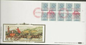 3/9/1984 £1.70 SOCIAL LETTER WRITING CYLINDER NO. BOOKLET NUMBER RIGHT PANE FDC