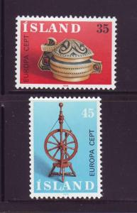 Iceland Sc 490-1 1976 Europa stamp set mint NH