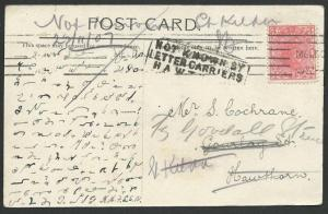 VICTORIA AUSTRALIA 1907 postcard NOT KNOWN BY / LETTER CARRIERS / HAWTHORN.