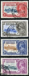 Bechuanaland Protectorate SG111/14 1935 Silver Jubilee Set Fine Used