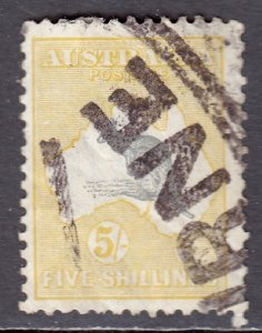 Australia - Scott #54 - Used - Spacefiller with faults - SCV $125