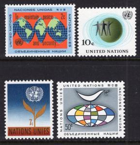 UN New York 125-128 MNH VF