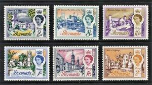 STAMP STATION PERTH  Bermuda #176c-186a QEII Set Wmk.314 Sideways- MH - CV$22.00