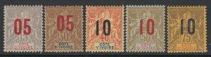 Ivory Coast, Scott 37-41 (Yvert 36-40), MHR