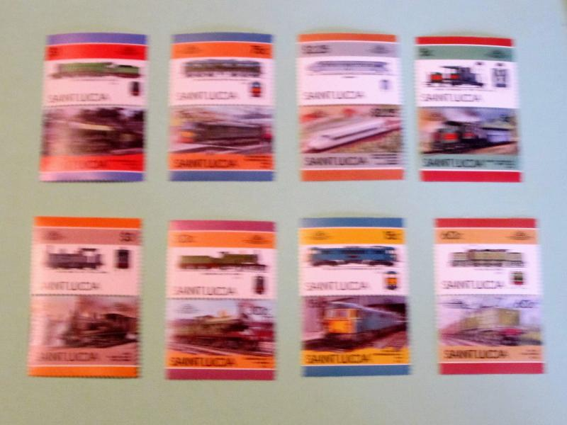 St. Lucia, 807-14, MNH Set. Locomotives (Pairs). SCV - $5.20