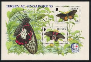 Jersey Butterflies 'Singapore 95' Exhibition MS SG#MS722