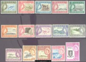 1964-68 British Virgin Islands Pictorials, Set of 15, SG 178-92, MUH