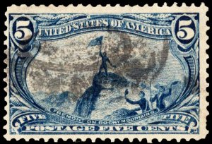 United States Scott 288 Used with nibbled perforation.