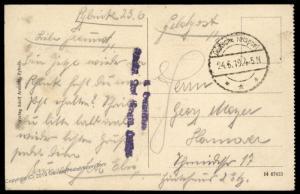German 1919 Freikorps Grenzschutz Ost Poland Rybik Feldpost Cover 87299