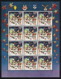 Luxembourg Christmas 1v issue 2009 Sheetlet of 12 stamps SG#1867