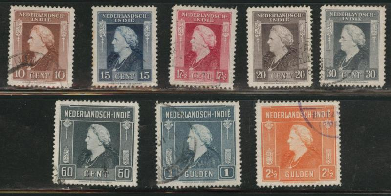 Netherlands Indies  Scott 255-262 used  from 1945 set