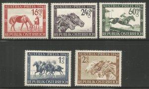 AUSTRIA  B179-B183  HINGED,  RACE HORSE WITH FOAL