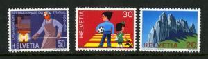 SWITZERLAND 507-9  MNH SCV $2.30 BIN $1.25
