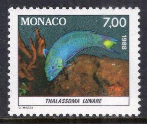 Monaco 1615 Fish MNH VF