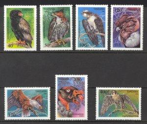 Tanzania Sc# 1279-1285 MNH 1994 Raptors
