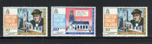 VIRGIN ISLANDS #278-279  1974 SIR WINSTON CHURCHILL        MINT VF NH O.G