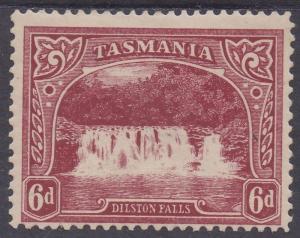 TASMANIA 1905 DILSTON WATERFALL 6D WMK CROWN/A LITHO PERF 12.5