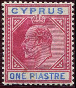 Cyprus 1903 1pi  Scott 40 MH Very Fine