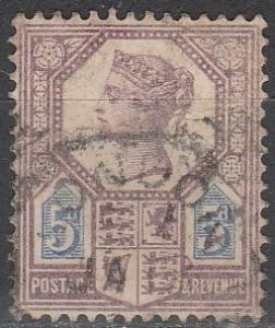 Great Britain #118 F-VF Used CV $12.50  (S3062)