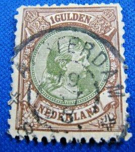 NETHERLANDS 1896  -  SCOTT # 52       USED     (XN4)