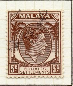 Malaya Straights Settlements 1937-41 Early Issue Fine Used 5c. 308055