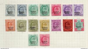 INDIA- CHAMBA STATE 1903 EDWARD VII SG28-42 SHADES - Mm cv 75 gbp