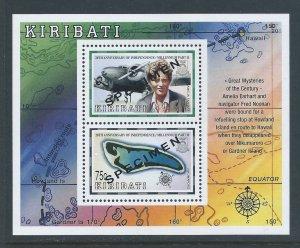 Kiribati #745a NH 20th Anniv. Independ. - SS w/Specimen O/P