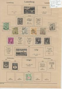 Luxembourg Stamps on 2 Pages Ref: R6865