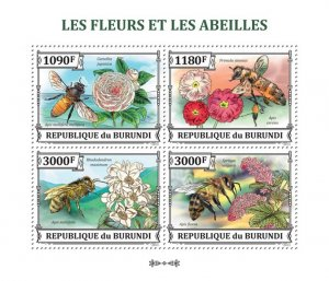 Stamps of BURUNDI 2013 - FLOWERS AND BEES